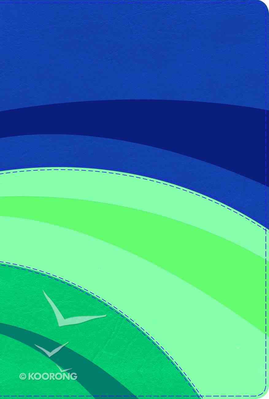 Rvr 1960 Biblia De Estudio Arco Iris Azul Elctrico/Celeste/Tuquesa Smil Piel Con Ndice Royal/Sky/Teal Cloth (Spanish) Genuine Leather