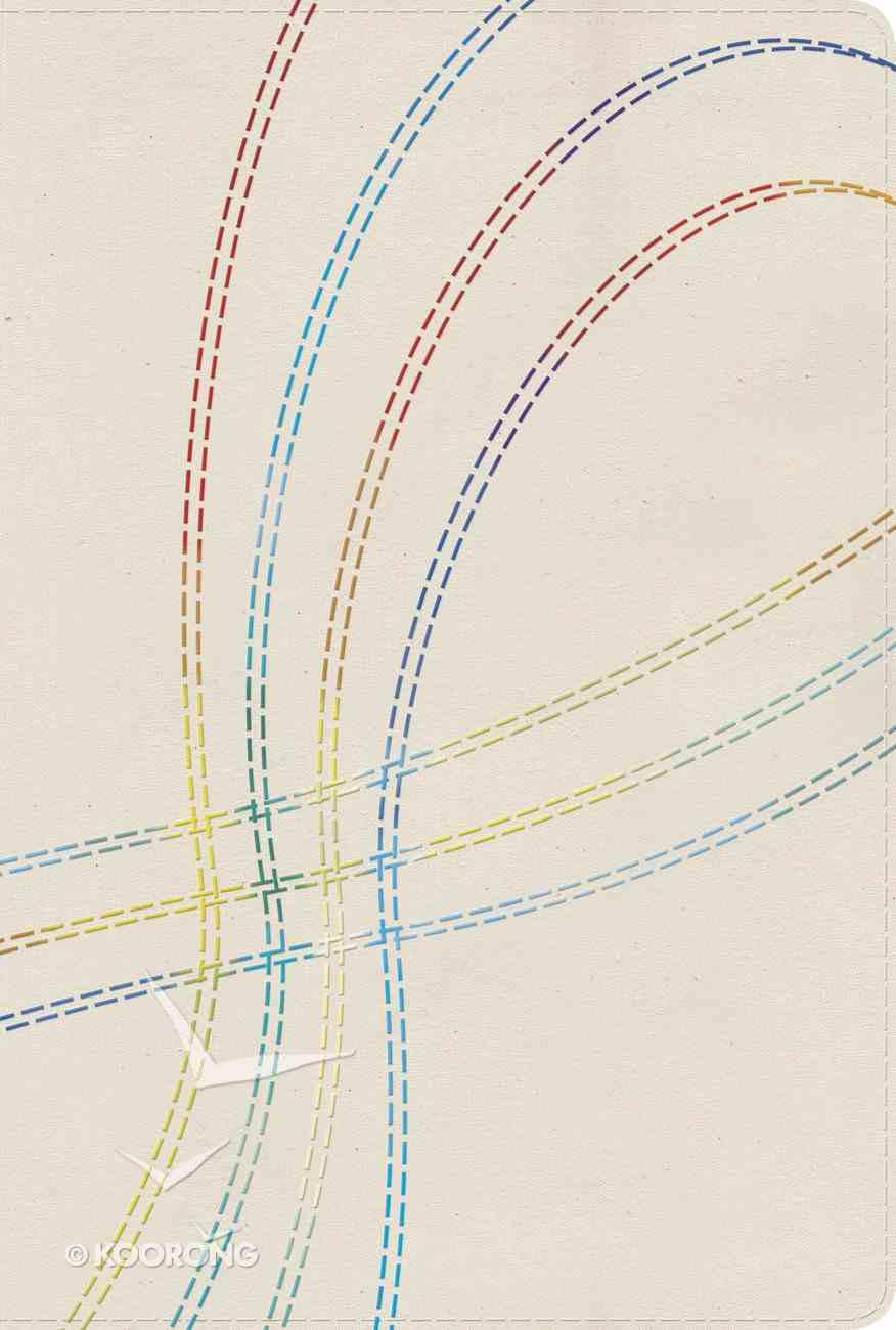 Rvr 1960 Biblia De Estudio Arco Iris Bordado Multicolor En Tela (Spanish) Hardback