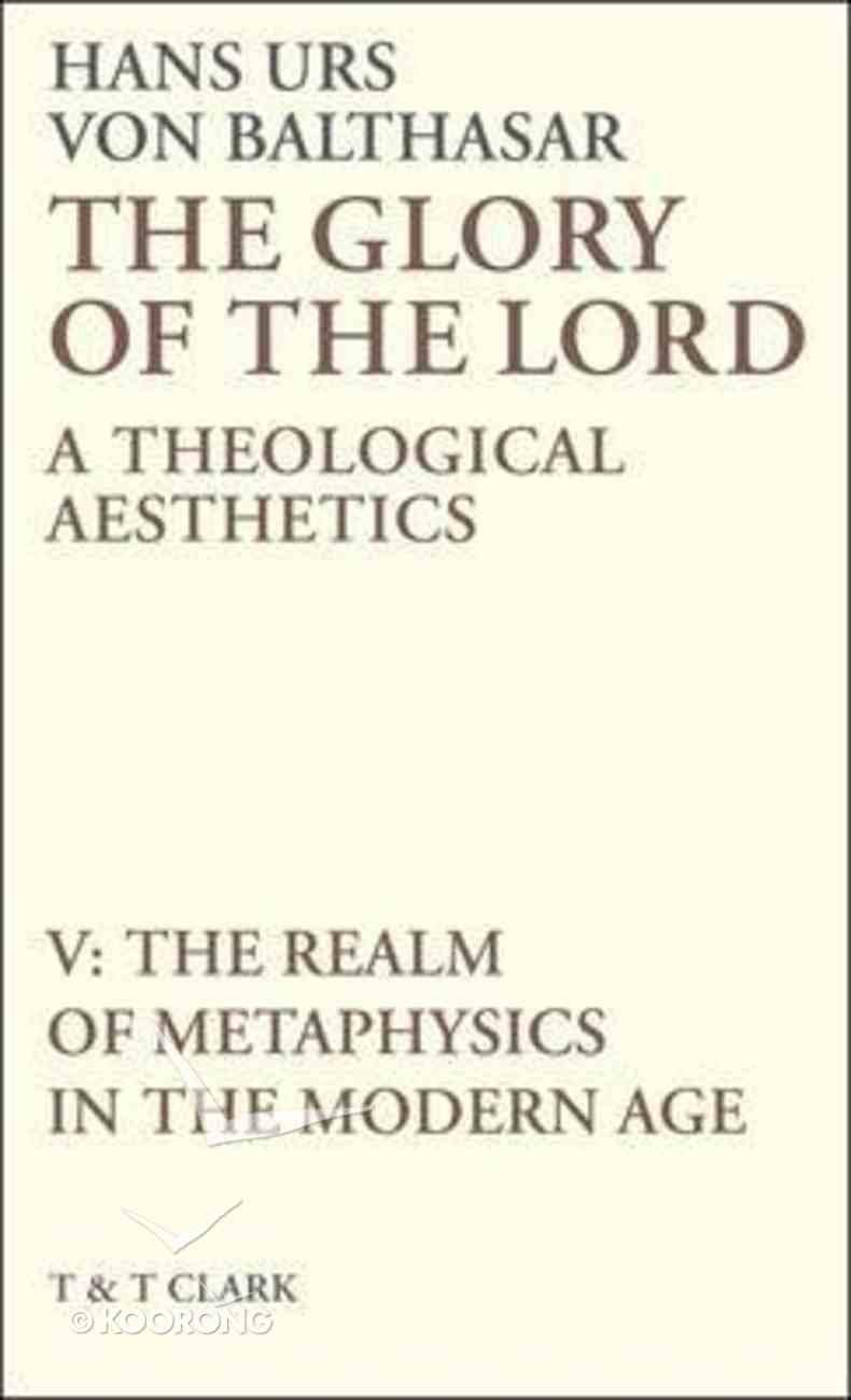 The Glory of the Lord (Vol 5) Hardback
