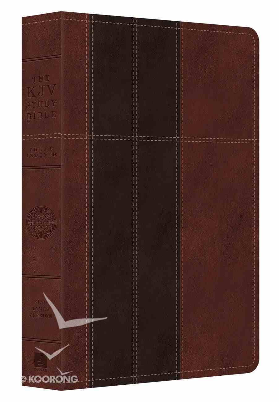 KJV Study Indexed Bible Dark Brown/Brown Imitation Leather