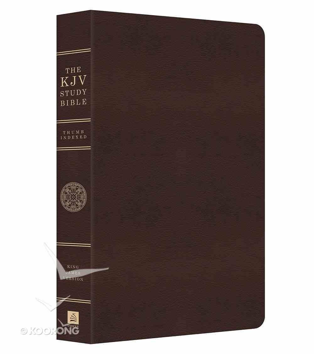 KJV Study Indexed Bible Burgundy Genuine Leather