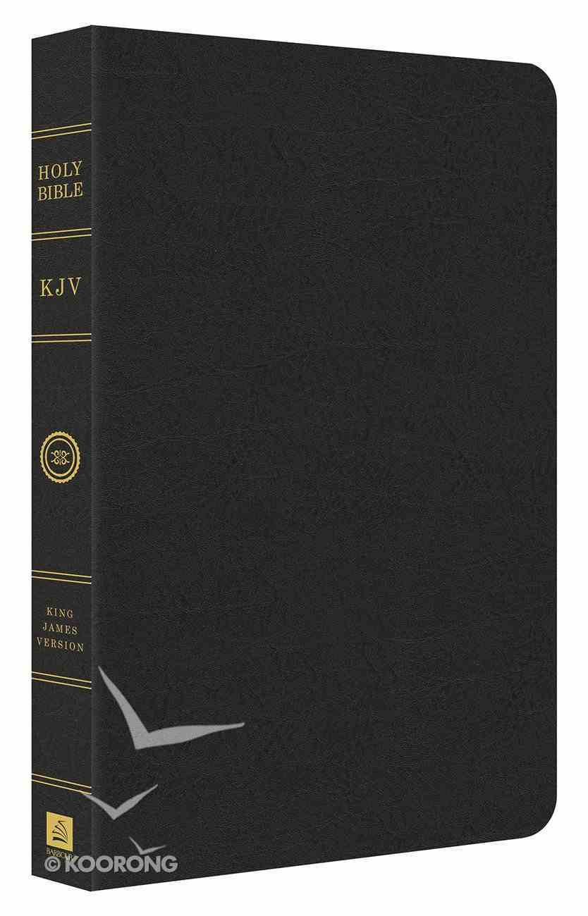 KJV Thin Line Bonded Leather Black Bonded Leather