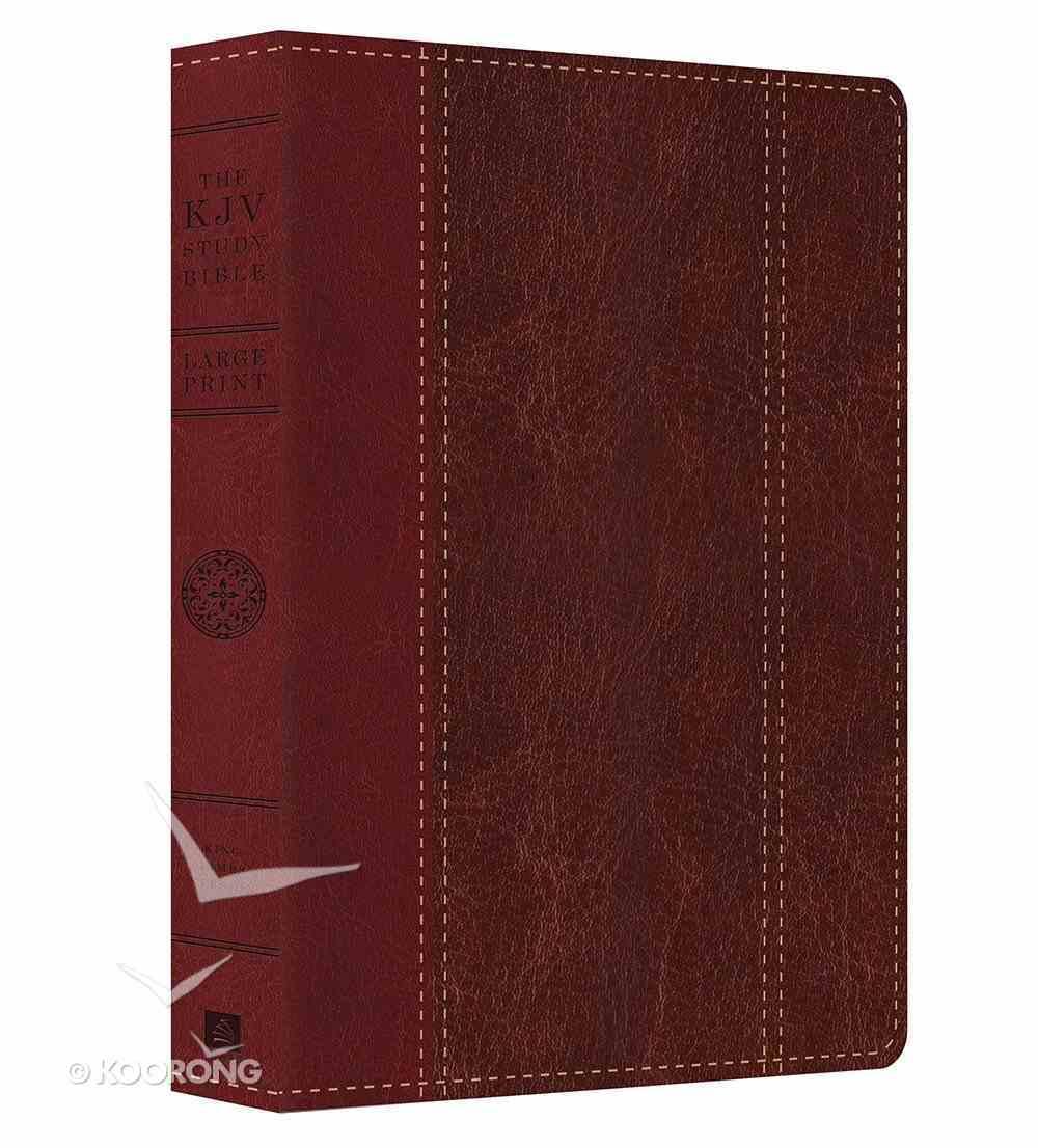 KJV Study Bible Large Print Brown/Burgundy Imitation Leather