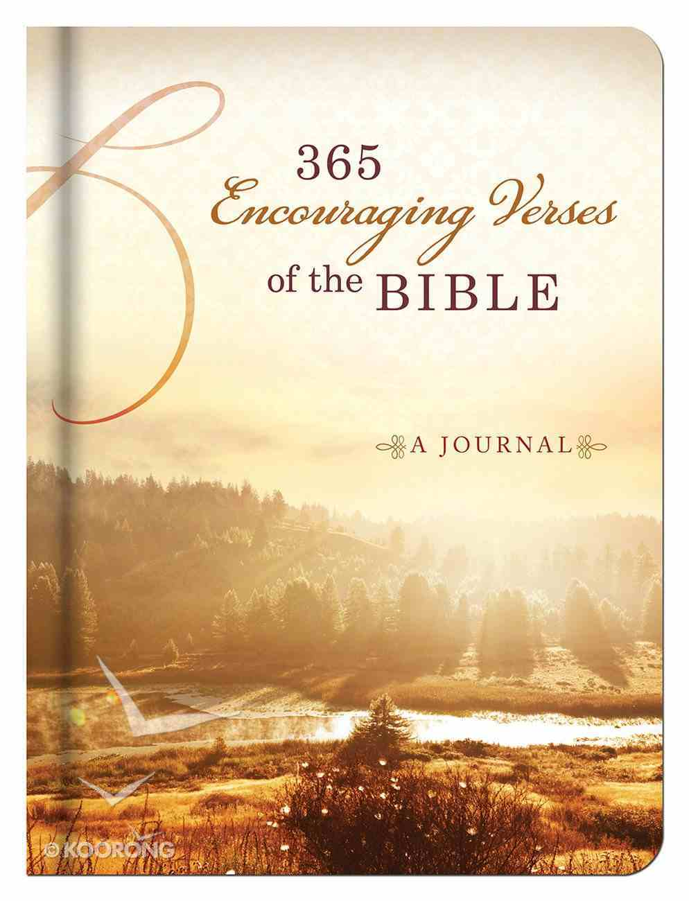 365 Encouraging Verses of the Bible Devotional Journal Hardback