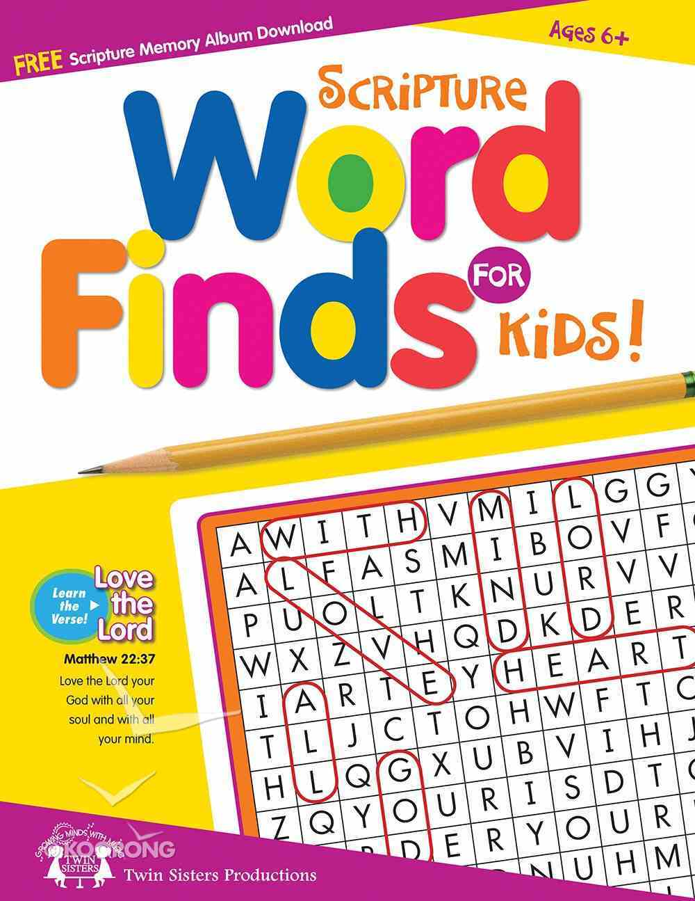 Scripture Word Finds For Kids Puzzle Book Paperback