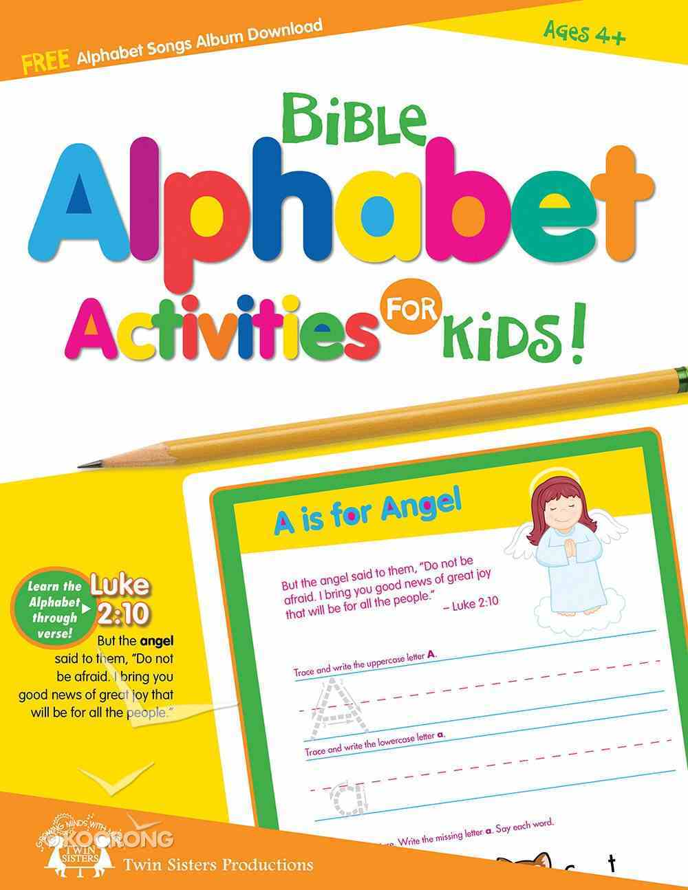 Bible Alphabet Activities For Kids Reproducible (Ages 4+) Paperback