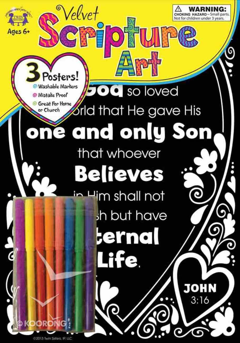 Velvet Scripture Art: John 3:16 General Gift