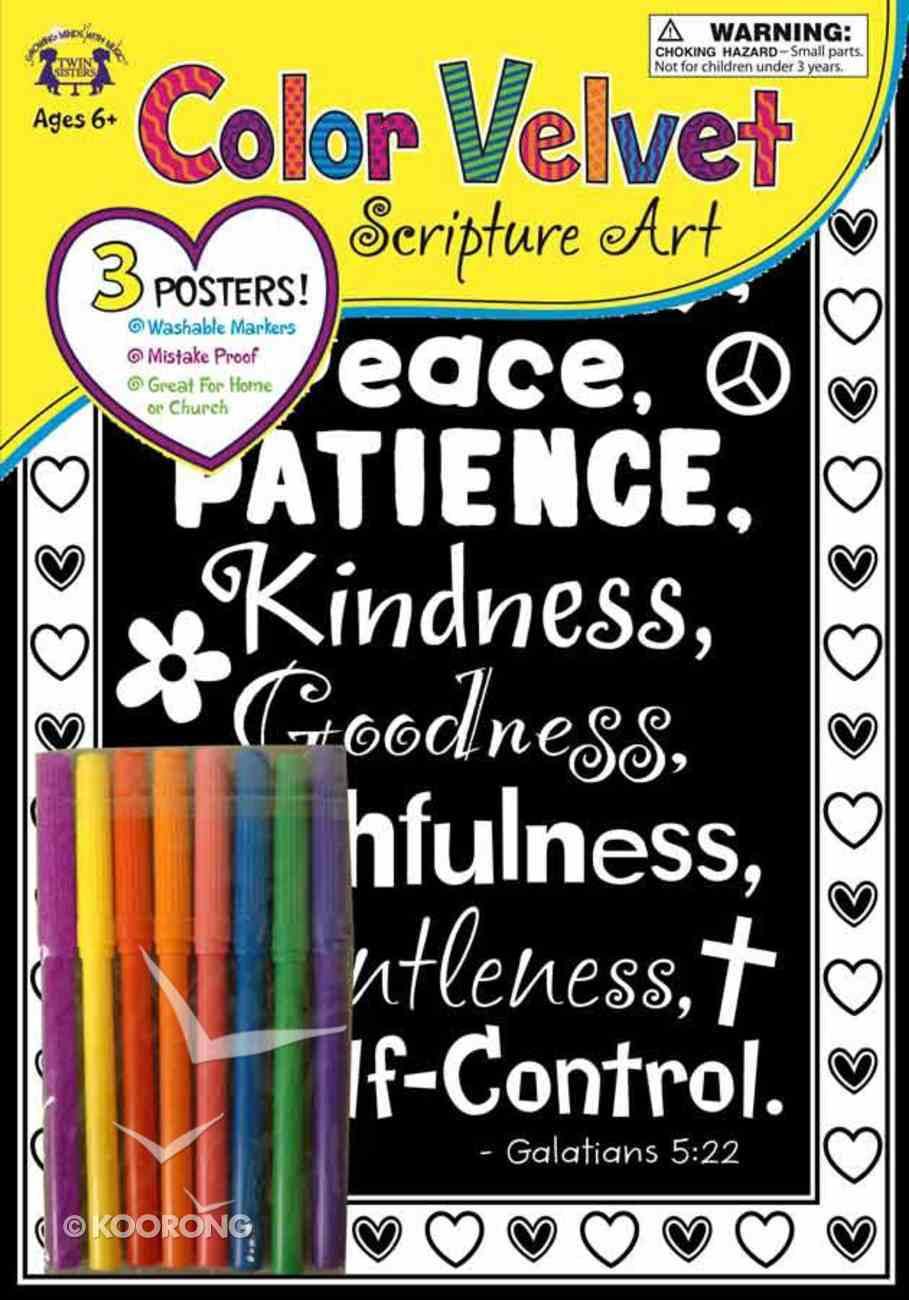 Velvet Scripture Art: Galatians 5:22 General Gift
