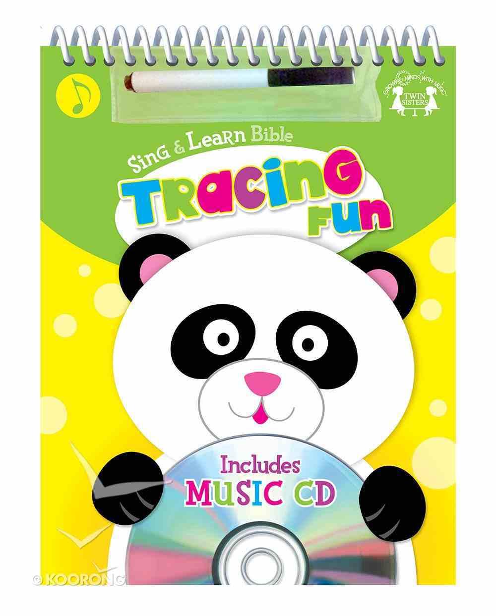Sing and Learn: Bible Tracing Fun Wipe-Clean Workbook & CD W/Marker Spiral