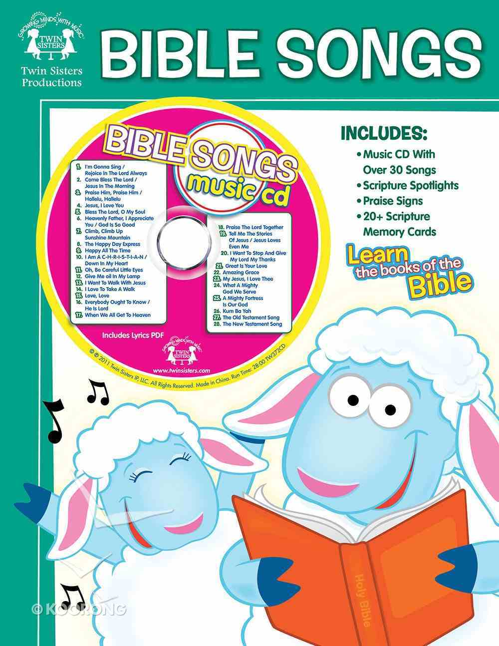 Bible Songs Workbook & CD: Learn the Books of the Bible Paperback