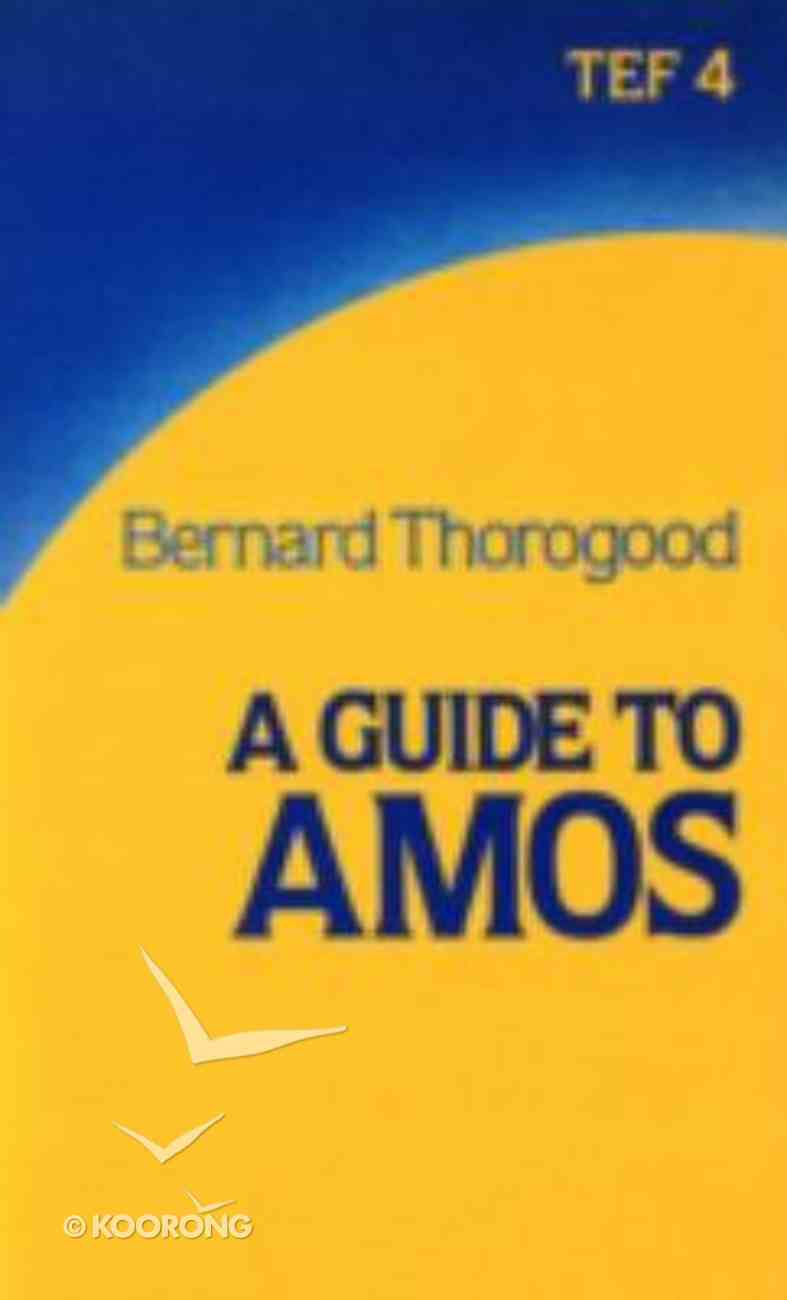 A Guide to the Book of Amos (International Study Guide Series) Paperback