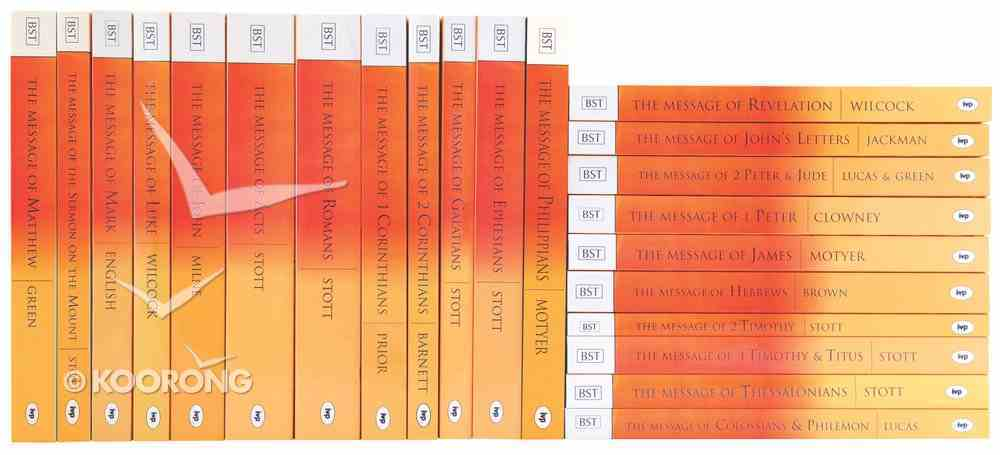 New Testament Commentary Set (Complete 22 Volumes) (Bible Speaks Today Series) Paperback