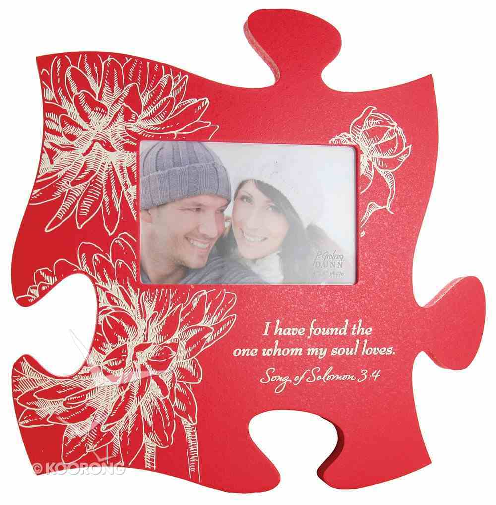 Puzzle Pieces Wall Art: I Have Found (Holds 1 4x6 Photo) Plaque