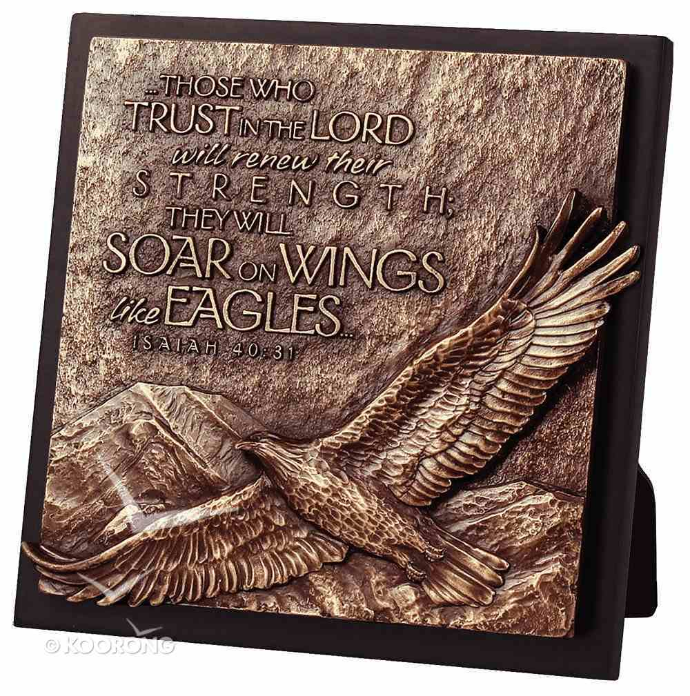 Moments of Faith Sculpture Plaque: Eagle on Perch (Square) Homeware