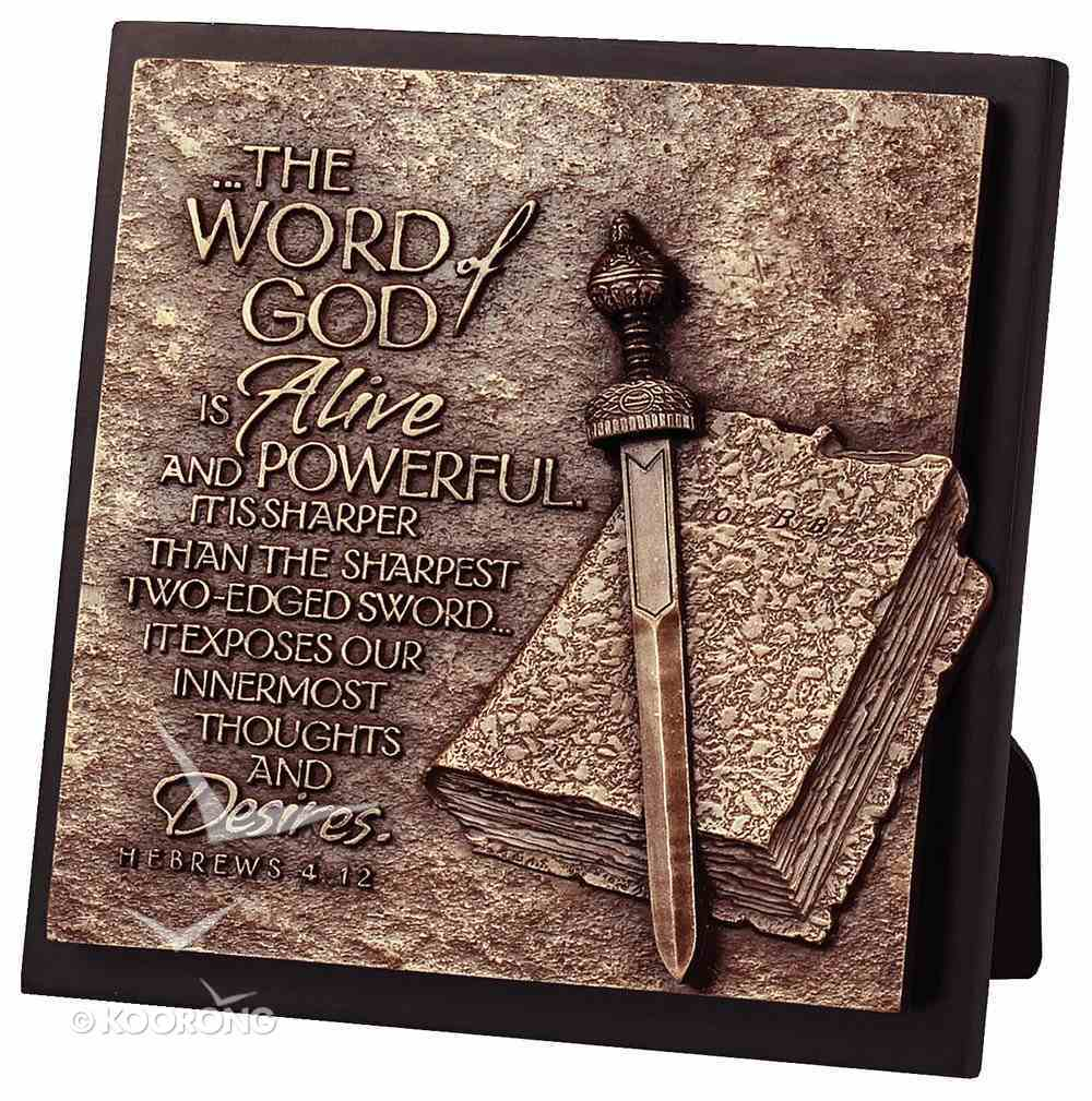 Moments of Faith Sculpture Plaque: Word of God (Square) Homeware