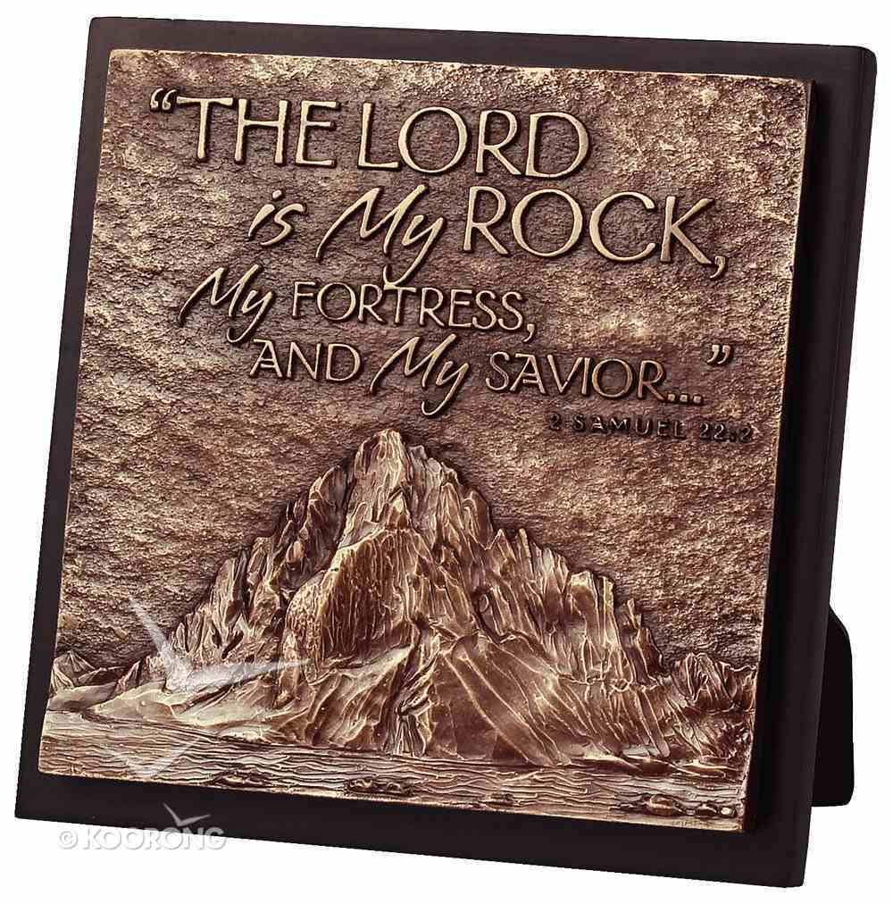 Moments of Faith Sculpture Plaque: Mountain - Lord is My Rock (Square) Homeware
