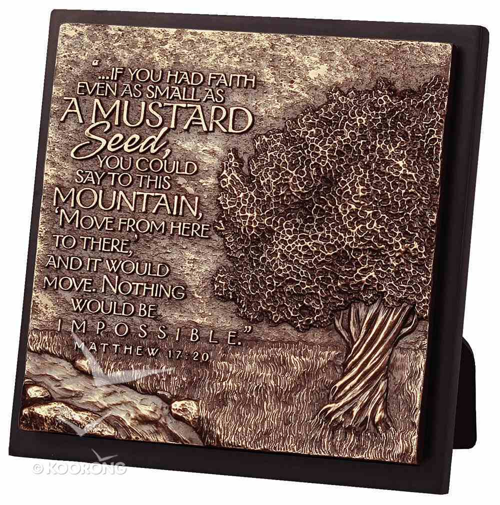 Moments of Faith Sculpture Plaque: Mustard Seed - Faith )Square) Homeware