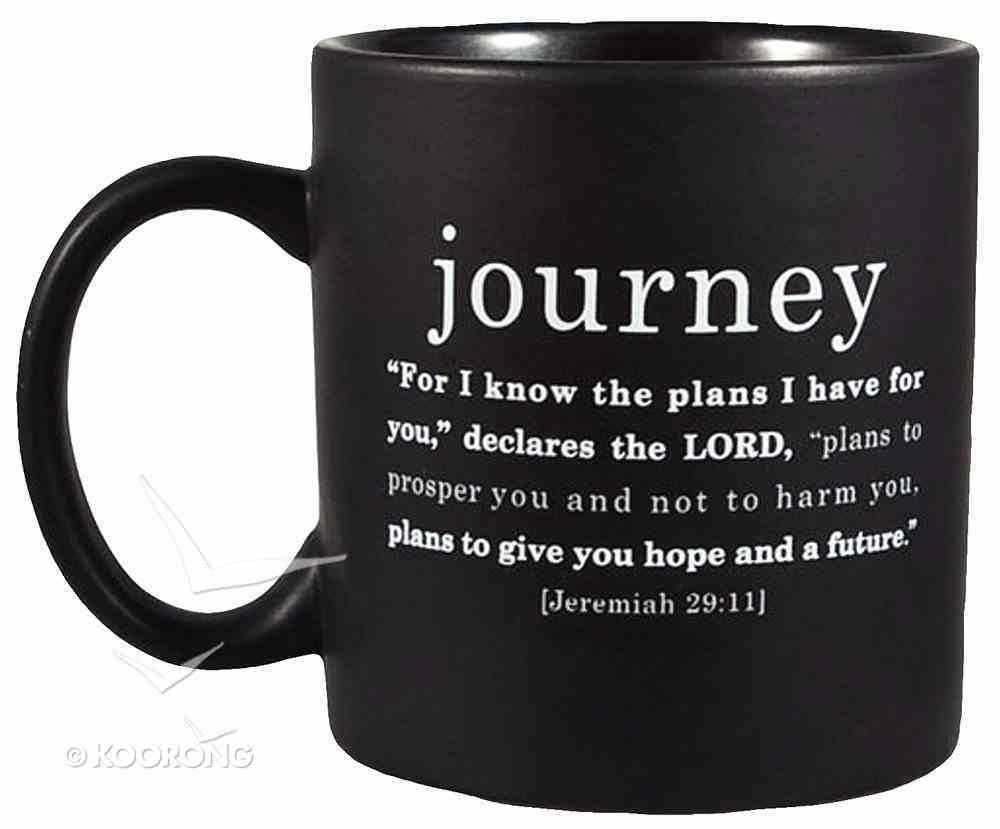 Simple Faith Ceramic Mug: Journey, Jeremiah 29:11 (Black/white) Homeware