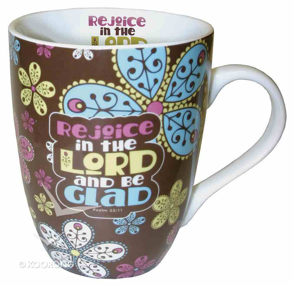 Ceramic Mug With Scripture: Rejoice in the Lord and Be Glad Homeware