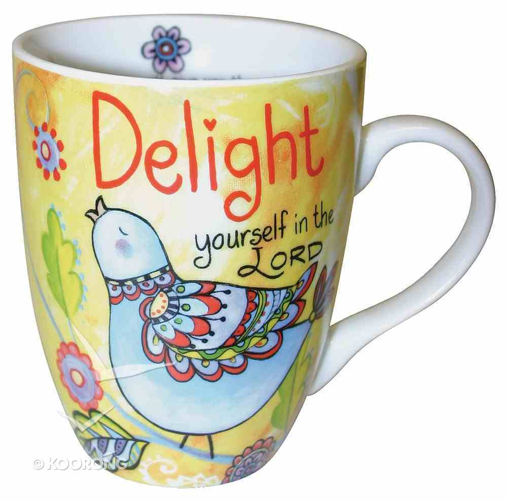 Ceramic Mug With Scripture: Delight Yourself in the Lord Homeware