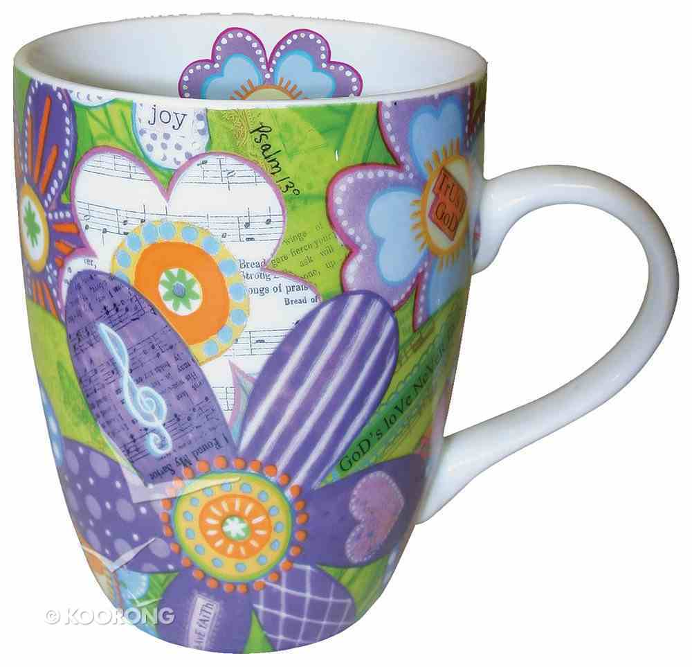 Ceramic Mug With Scripture: Musical Flowers Homeware