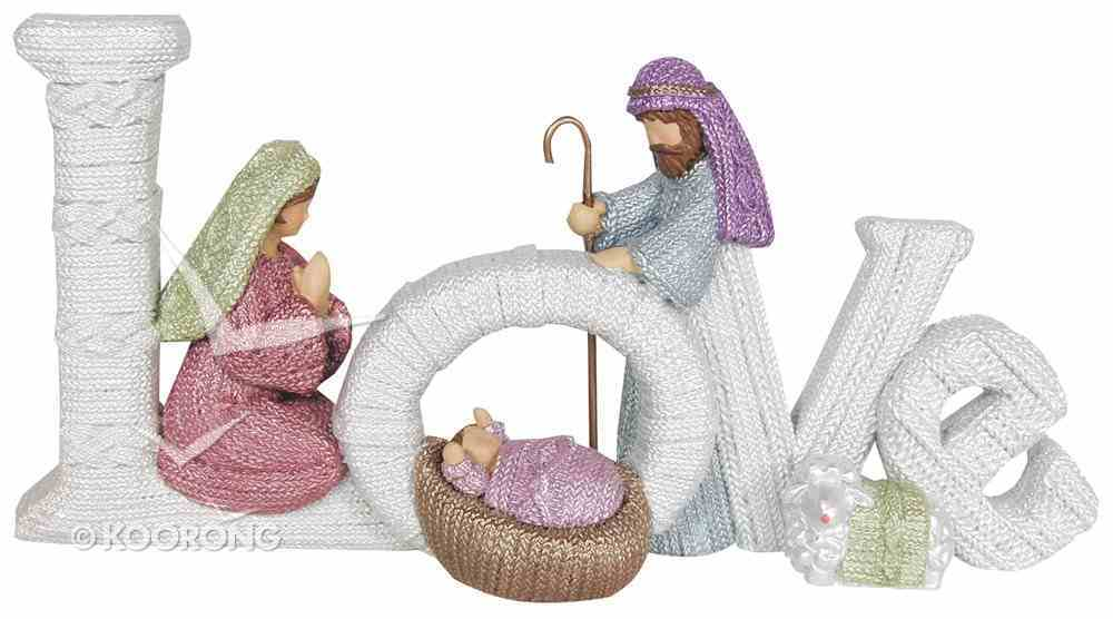Resin Knitted Finish Holy Family: Love Homeware
