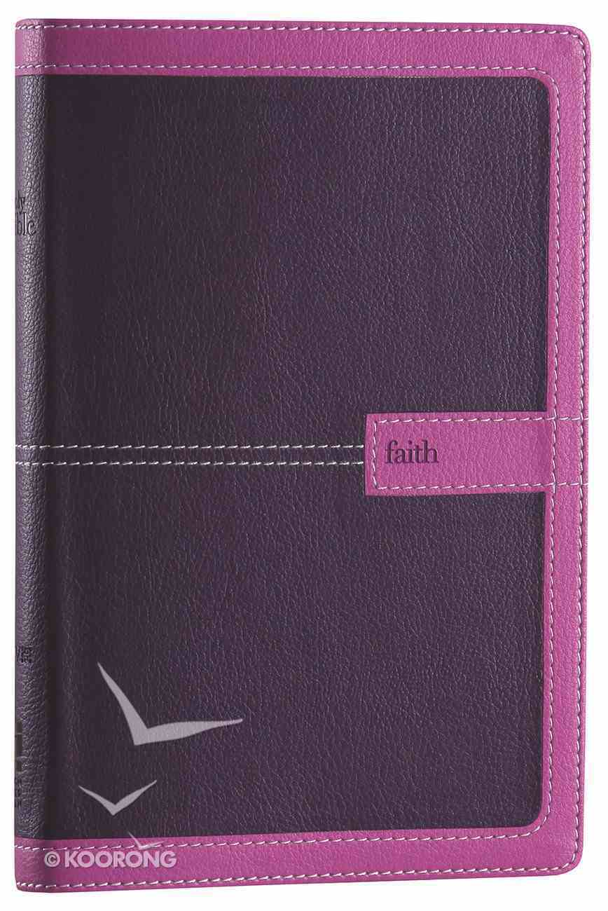 NIV Thinline Bible Dark Orchid/Grape Duo-Tone (Red Letter Edition) Imitation Leather