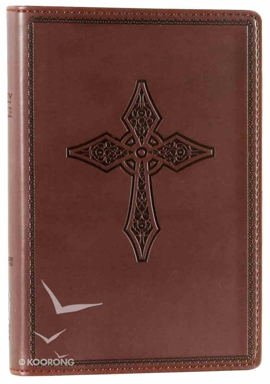 NIV Compact Thinline Reference Bible Black Cherry Duo-Tone Imitation Leather