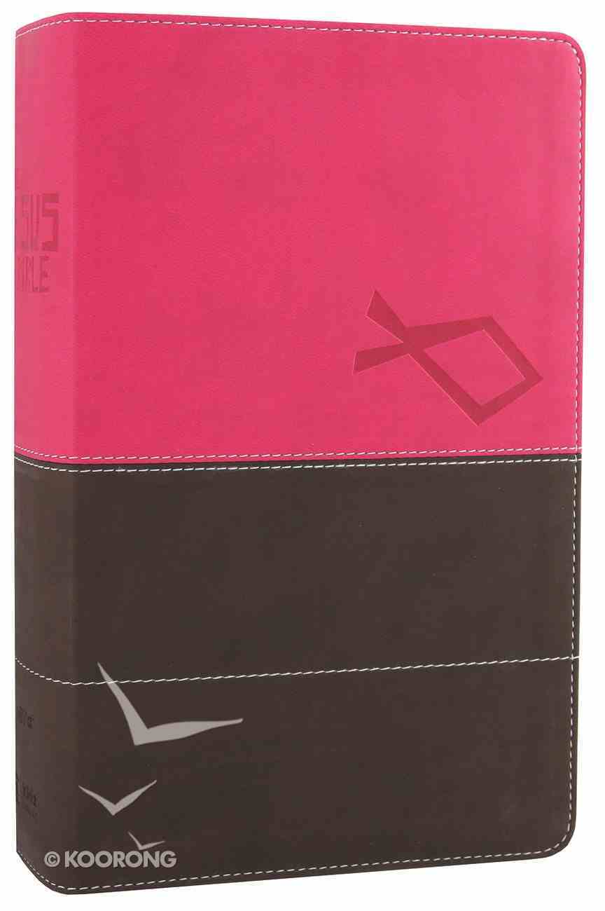 NIV Jesus Bible Pink/Brown (Red Letter Edition) Premium Imitation Leather