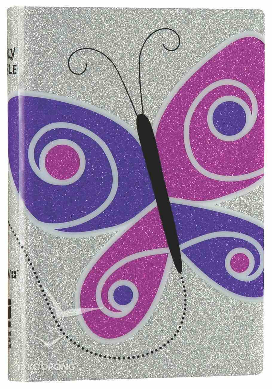 NIV Glitter Bible Purple Butterfly (Red Letter Edition) Imitation Leather