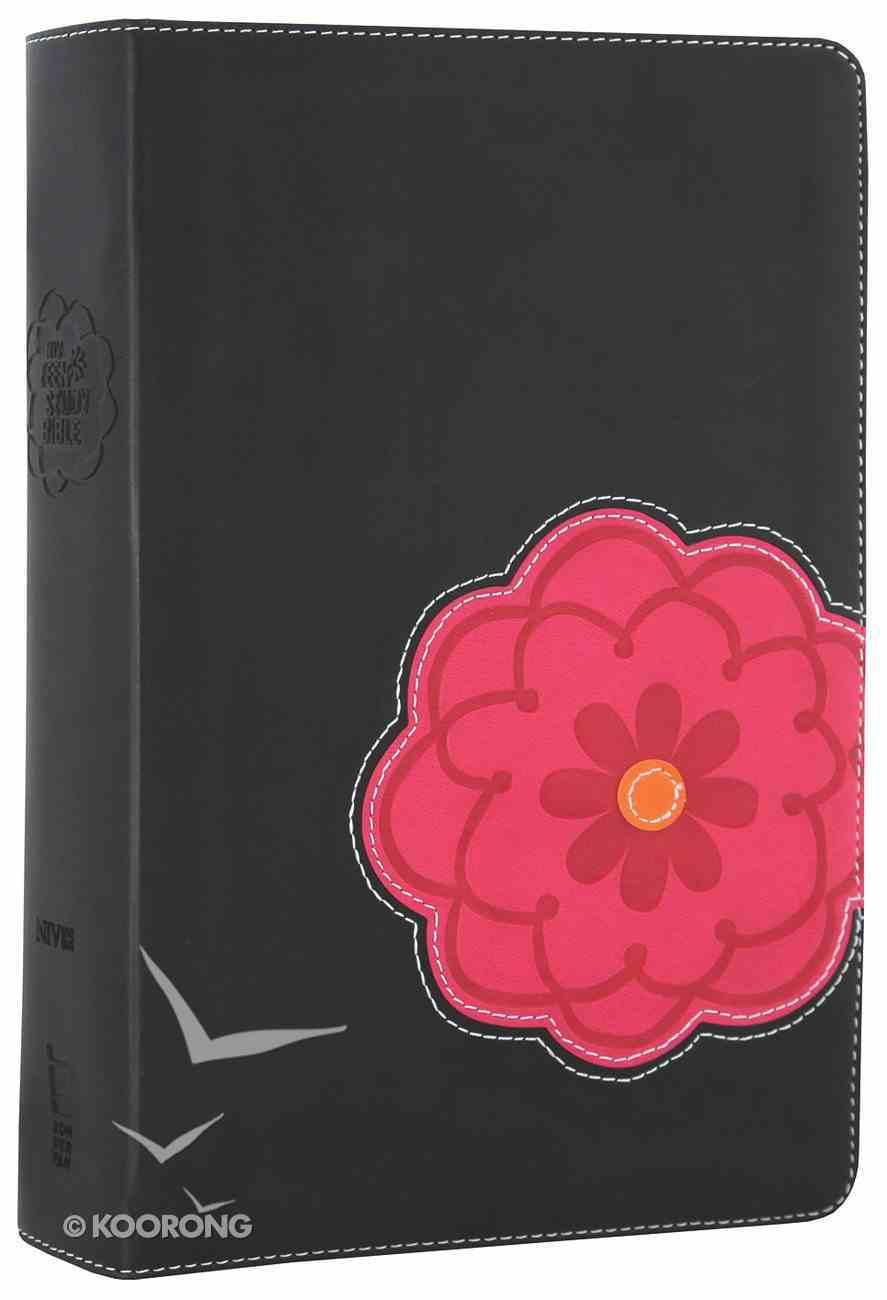 NIV Teen Study Bible Black Licorice Hot Pink Premium Imitation Leather