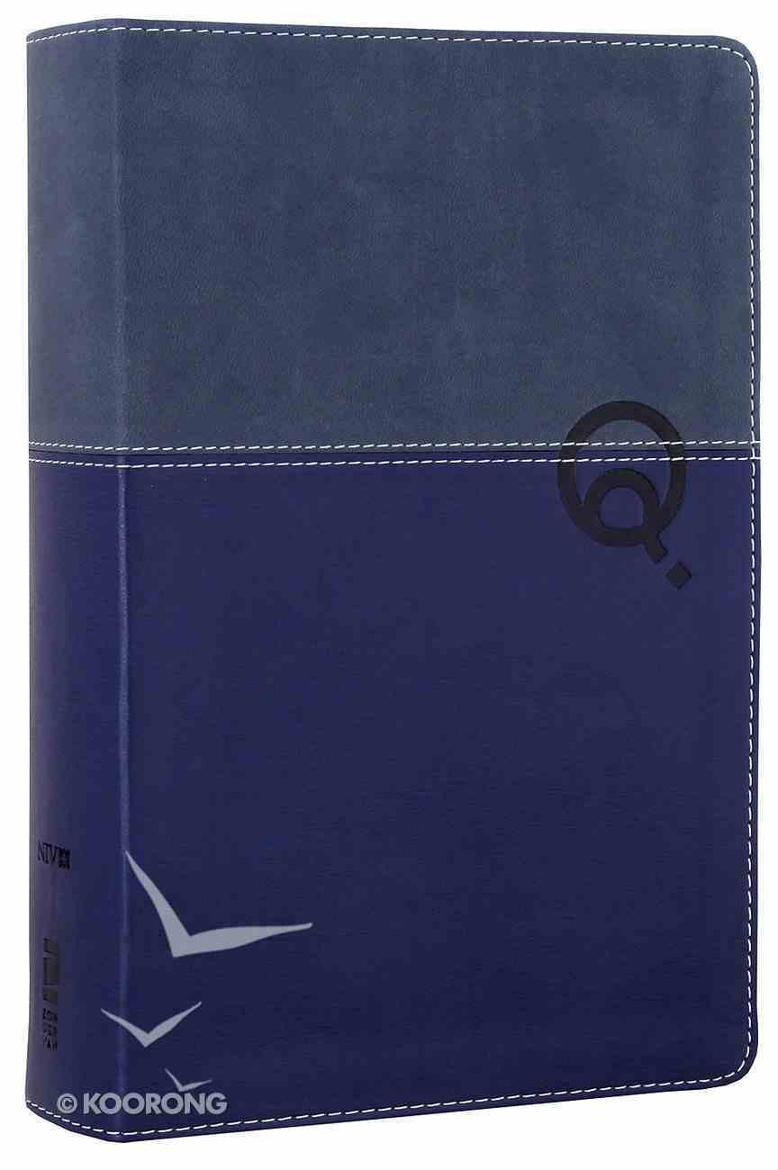 NIV Quest Personal Size Study Bible Blue/Blue (Black Letter Edition) Premium Imitation Leather