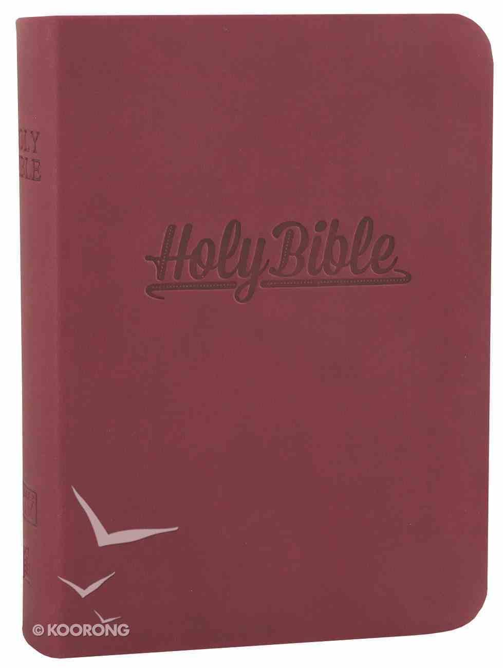 KJV Compact Large Print Reference Bible Burgundy (Essentials) Imitation Leather