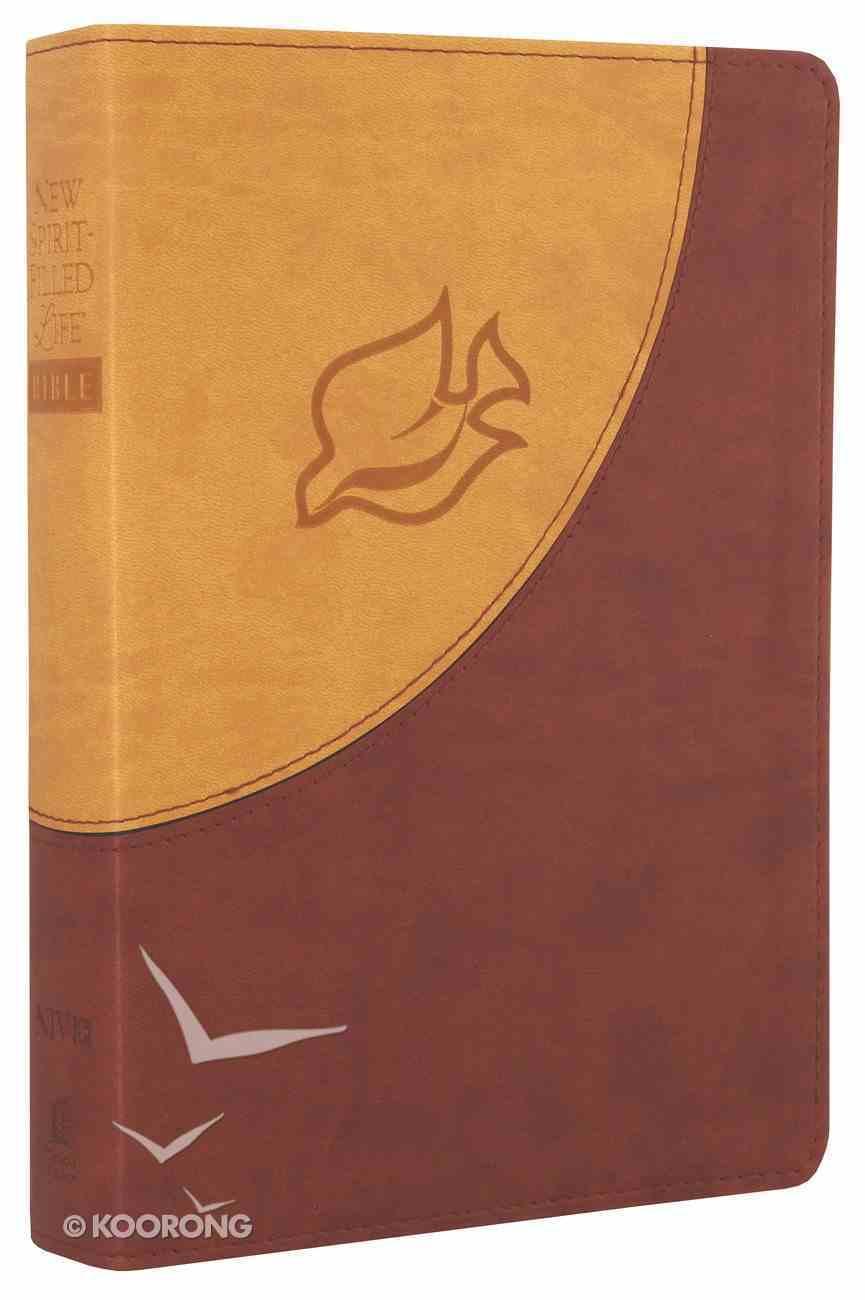NIV New Spirit-Filled Life Bible Brown Dove Imitation Leather