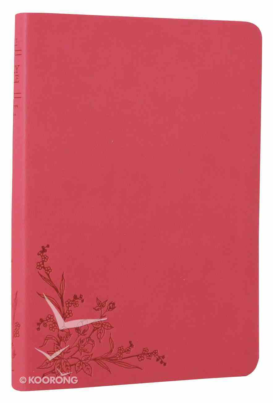 NLT Compact Bible Pink Floral Imitation Leather