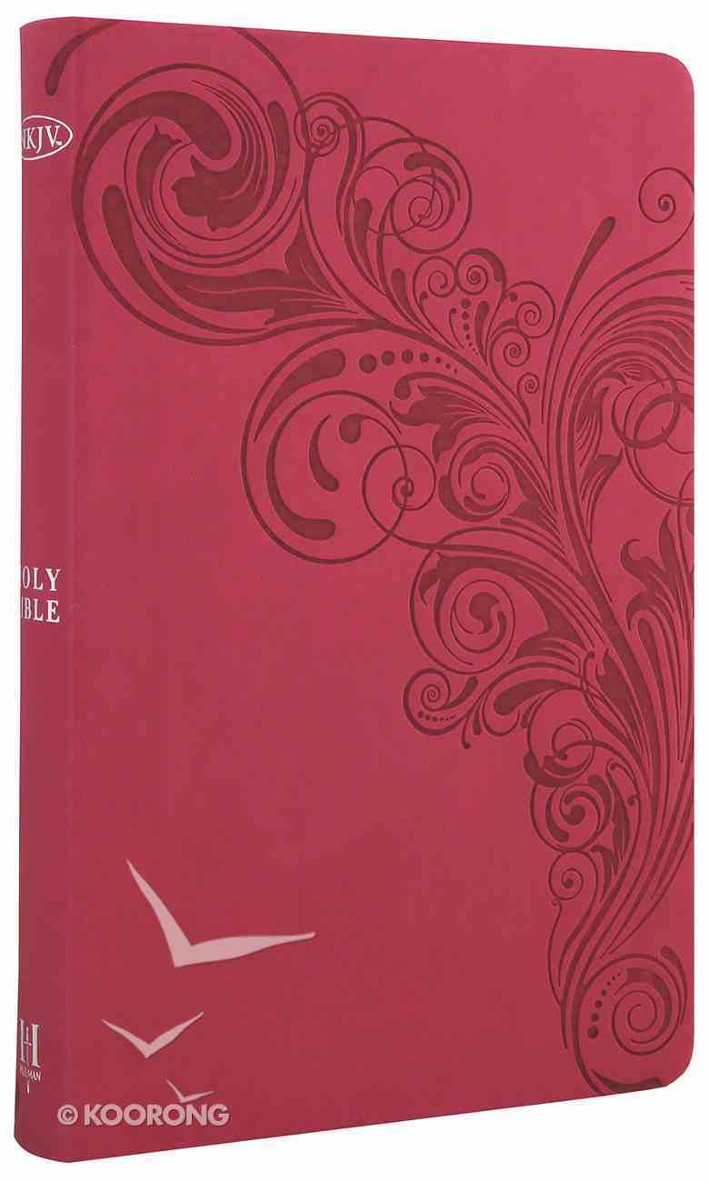 NKJV Ultrathin Reference Bible Pink Premium Imitation Leather
