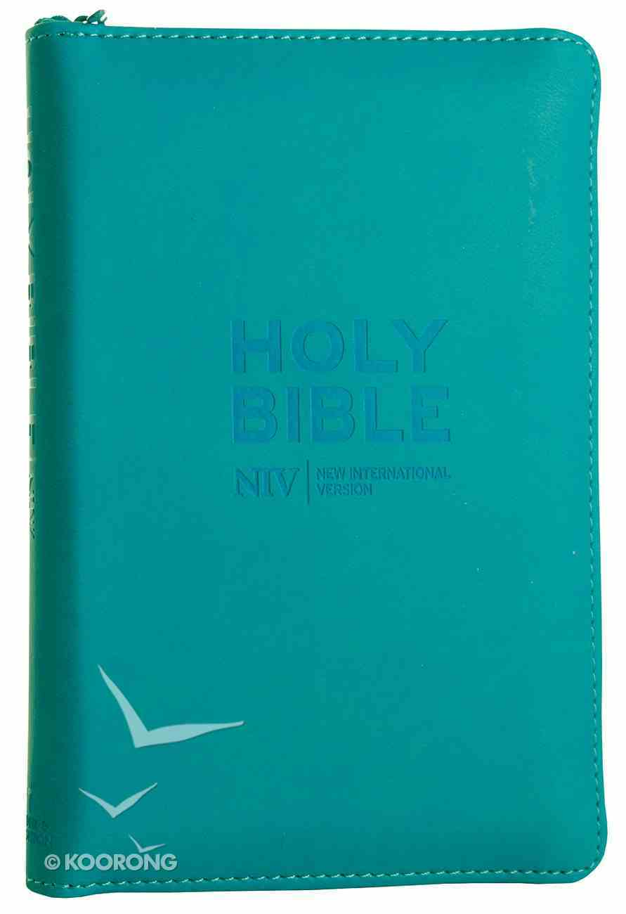 NIV Pocket Bible Cyan Soft-Tone With Zip Imitation Leather