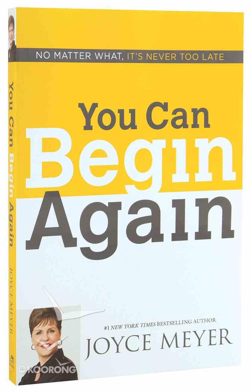 You Can Begin Again Paperback