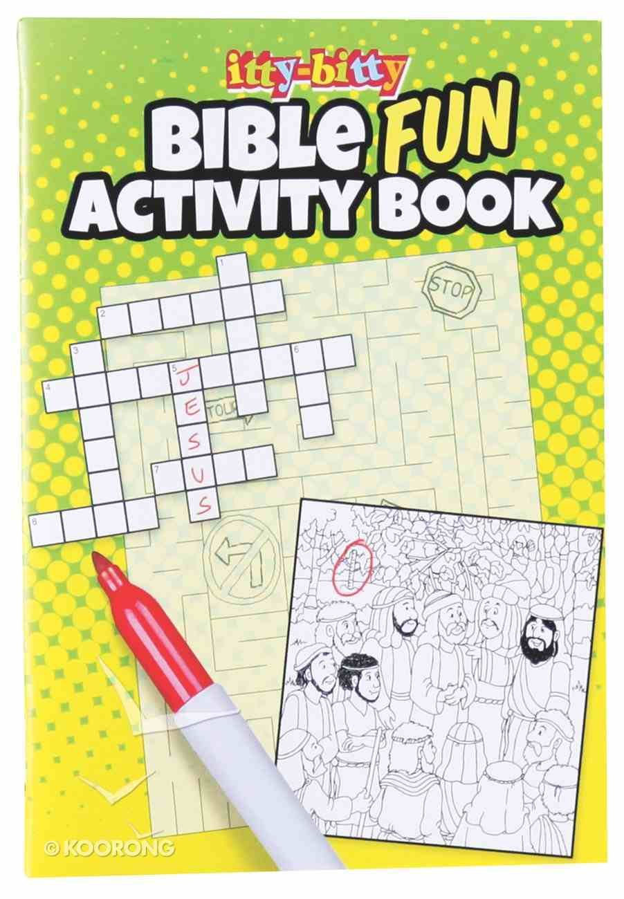 Activity Book Fun Bible Activities (Itty Bitty Bible Series) Paperback