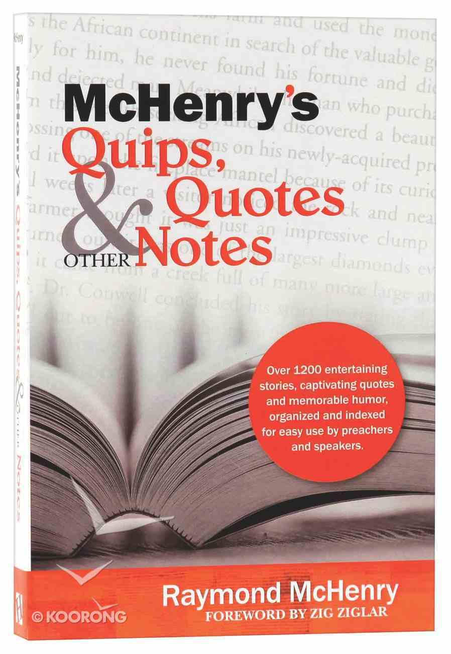 Mchenry's Quips, Quotes & Other Notes Paperback