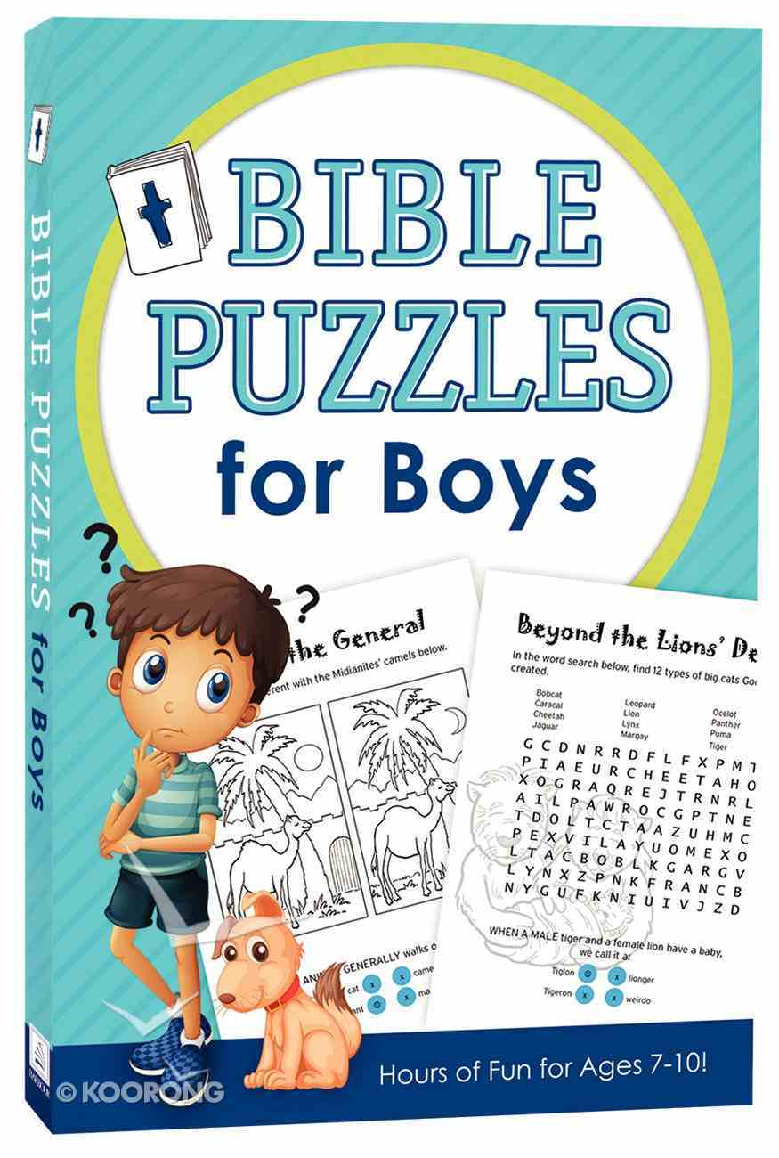 Bible Puzzles For Boys Paperback