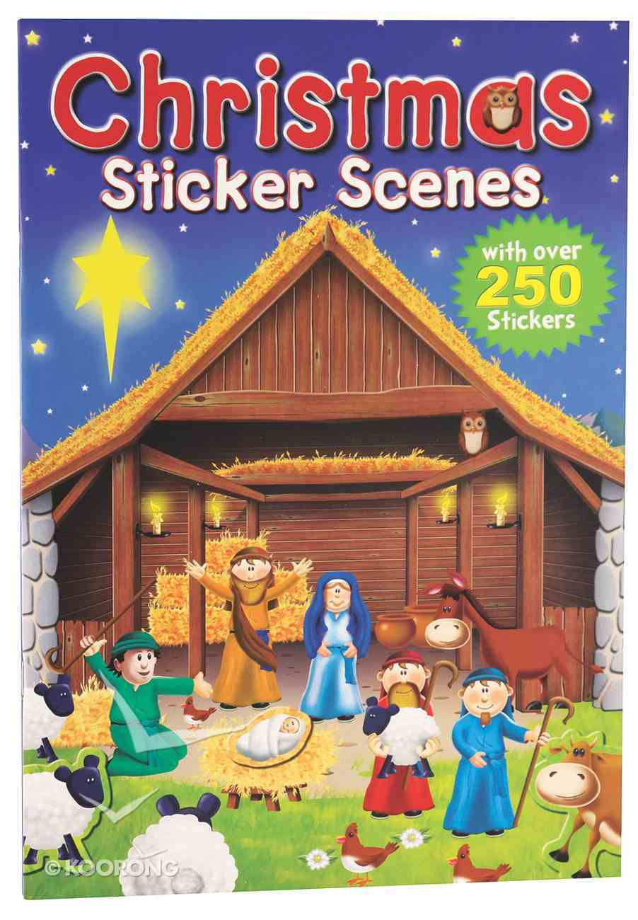 Christmas Sticker Scenes (Over 250 Stickers) Paperback