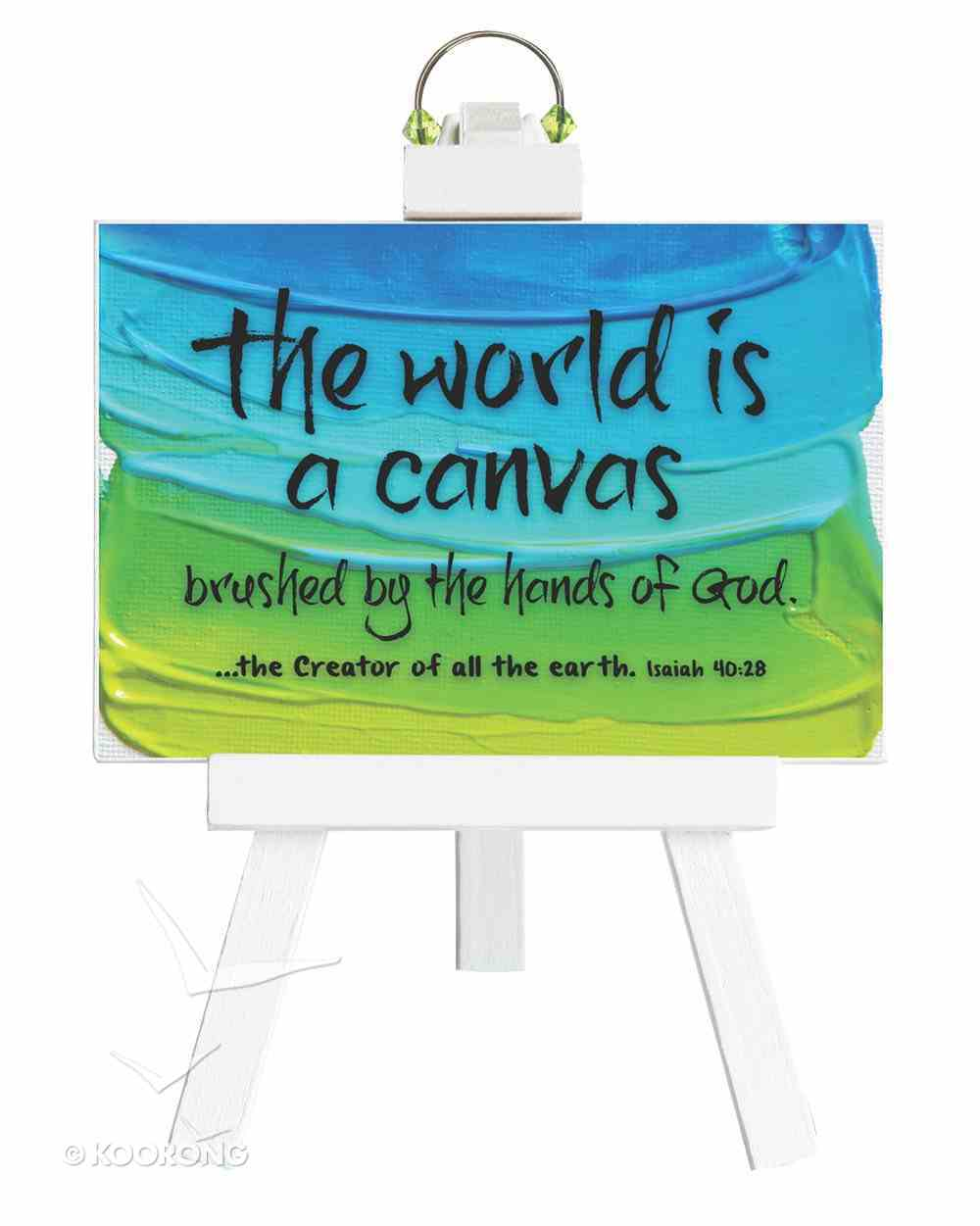 Easel Inspirations: The World is a Canvas (4 1/2 X 6 1/2) Homeware