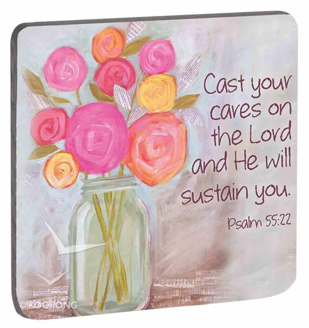 Petals of Praise Magnet: Cast Your Cares... Flowers (Psalm 55:22) Novelty