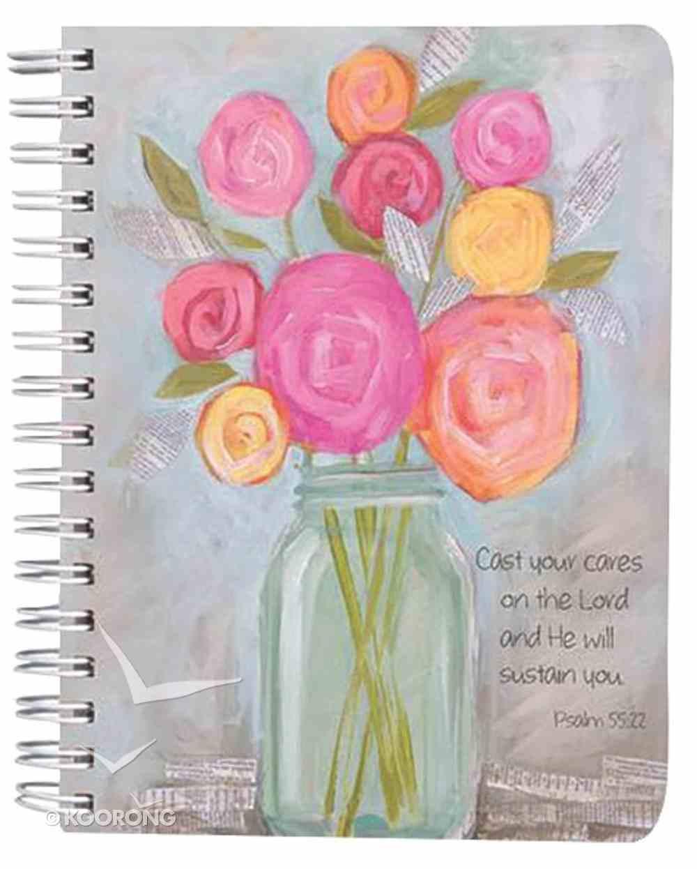 Petals of Praise Spiral Notebook: Flowers in Vase Spiral