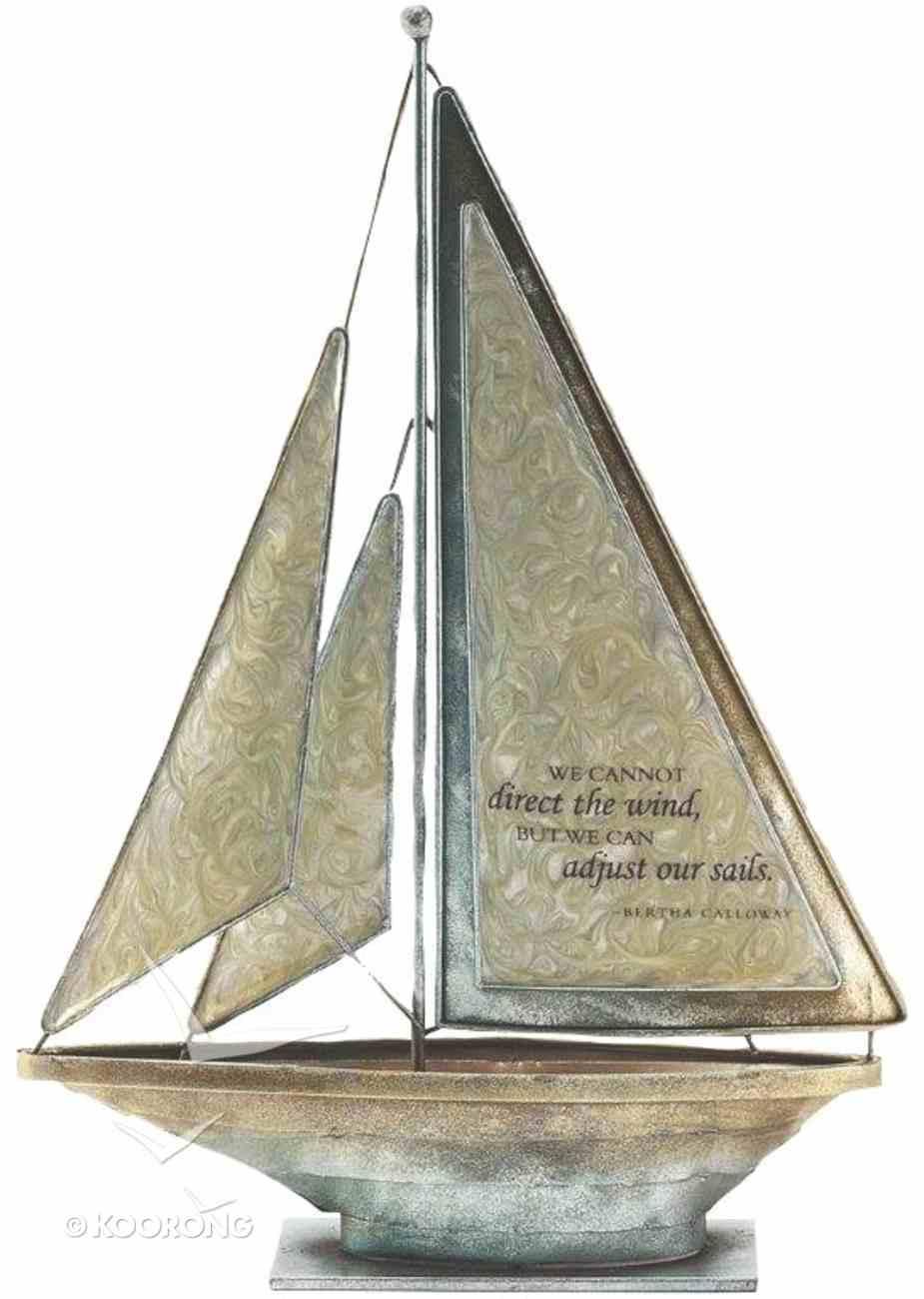 Sailboat Metal: We Cannot Direct the Wind 'Bertha Calloway' (Cream) Homeware