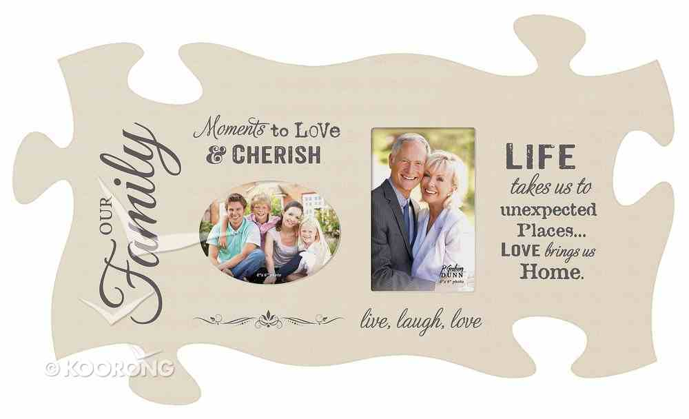 Puzzle Pieces Wall Art: Moments to Love (Holds 2 4x6 Photo) Plaque