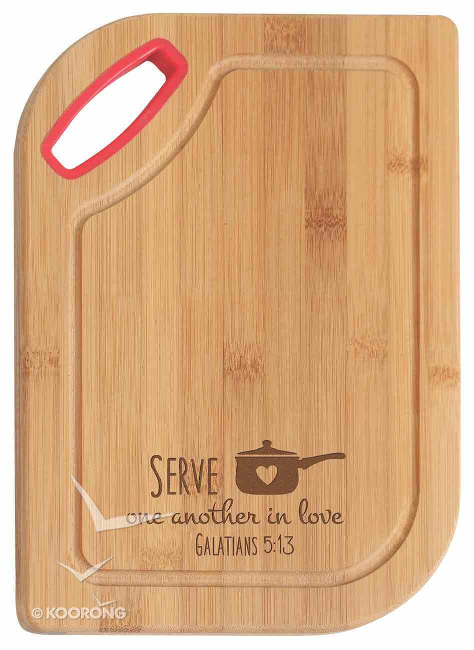 Hardwood Bamboo Cutting Board: Serve One Another, Galatians 5:13 Homeware