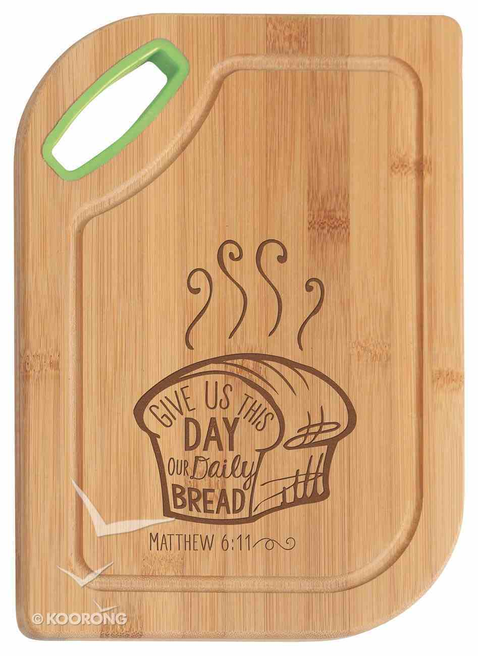 Hardwood Bamboo Cutting Board: Give Us This Day, Matthew 6:11 Homeware