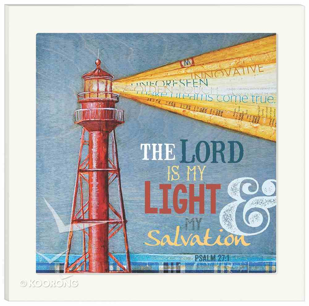 Framed Wall Art: The Lord is My Light, Psalm 27:1 Plaque